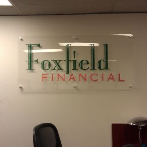 Foxfield Financial Entry Sign